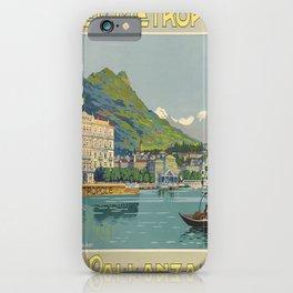 Werbeposter Pallanza voyage poster iPhone Case