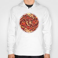 agate Hoodies featuring Fire Agate by David Lee