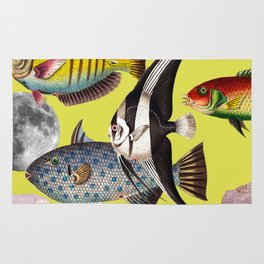 Fish World yellow Rug