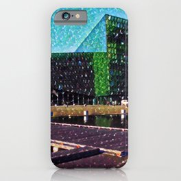 Iceland Harpa Concert Hall Artistic Illustration Gems Style iPhone Case