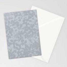 Broken but Flourishing Floral Pattern - Grey Stationery Cards