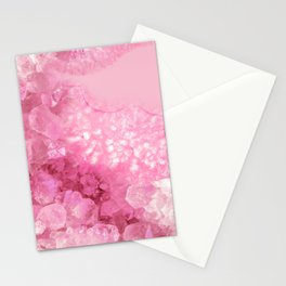 Sweet Pink Crystals Stationery Cards
