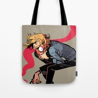 musa Tote Bags featuring you wish you felt better by musa