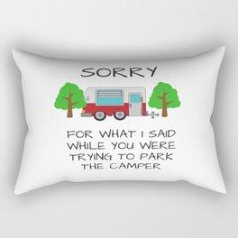 Camping Apologies Rectangular Pillow