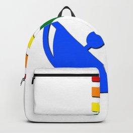 Rainbow Gaydar Gay Pride Flag Colors Backpack