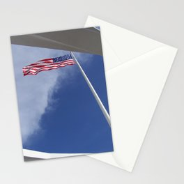 Flag at U.S.S. Arizona Stationery Cards