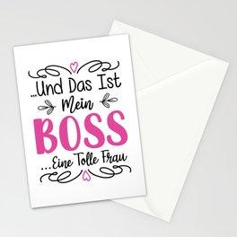 Und Das Ist Mein Boss Eine Tolle Frau bw Stationery Cards