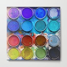 Paintbox Palette Metal Print