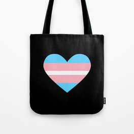 Trans heart Tote Bag