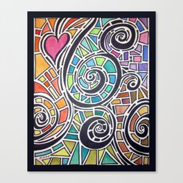 Love Spectrum Watercolor Canvas Print