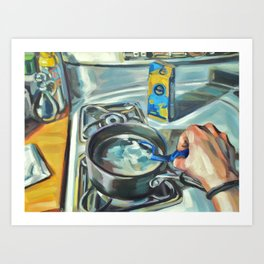 Complacency, Stove Art Print
