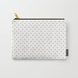 Christmas Gold Polka Dots on White Carry-All Pouch