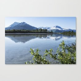 Placer River at the Bend in Turnagain Arm, No. 2 Canvas Print