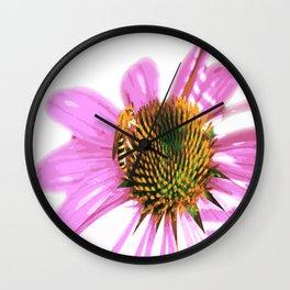 Bee on flower Wall Clock