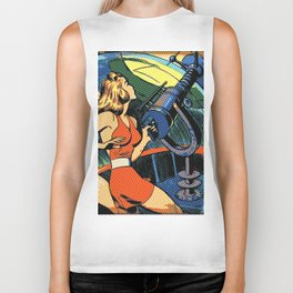 Comic Girl - 5 Pop Biker Tank