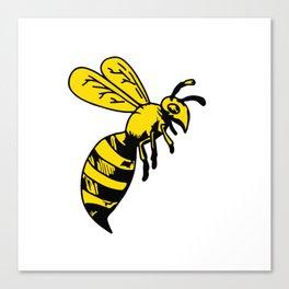 Yellowjacket Wasp Drawing Canvas Print