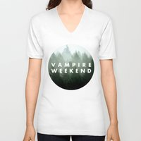 vampire weekend V-neck T-shirts featuring Vampire Weekend trees logo by Elianne