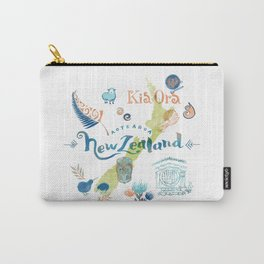 Drawings from New Zealand Carry-All Pouch