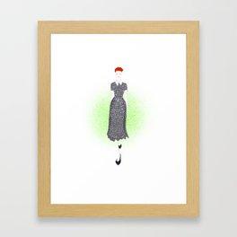 Polka Dot Lucy Framed Art Print