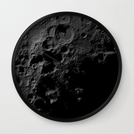 Moon Craters Wall Clock