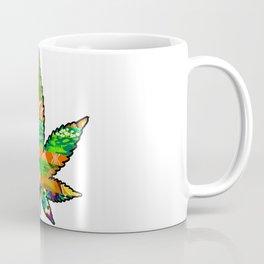 Retro Marijuana Leaf Coffee Mug
