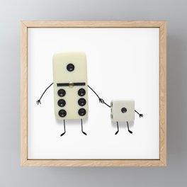 Father's Day (Domino & Dice) Framed Mini Art Print