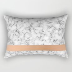 Marble and copper Rectangular Pillow