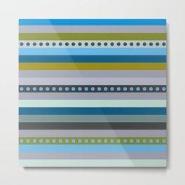 Stripes&dots Metal Print