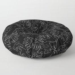 Hands On Black Floor Pillow