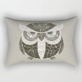 Wise Old Owl Says Rectangular Pillow