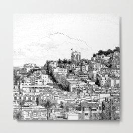 The Skyline of San Francisco. Metal Print