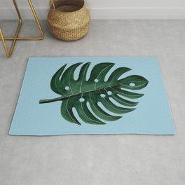 Large Monstera Leaf Rug