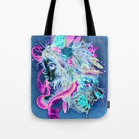beast Tote Bags featuring BEAST by Tim Shumate