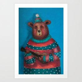 Bear's song Art Print