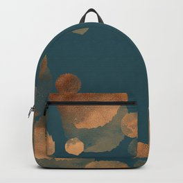 Metal Copper Dots on Emerald Backpack