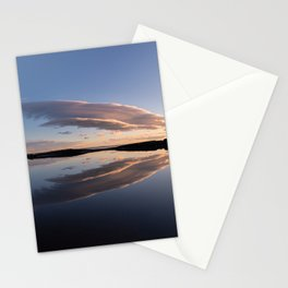 Lenticular clouds reflection Stationery Cards