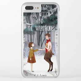 Lucy and Tumnus Clear iPhone Case