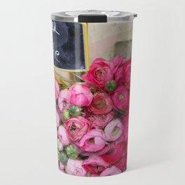 Paris Marché Flower Piles Travel Mug