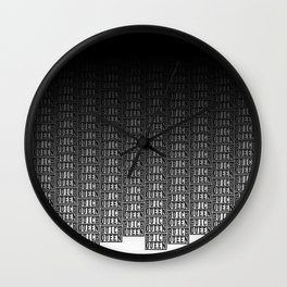 BQ - Logo Pattern Dip Wall Clock