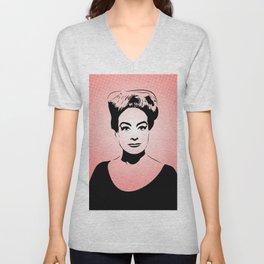 Joan Crawford   Hollywood Royalty   Pop Art Unisex V-Neck