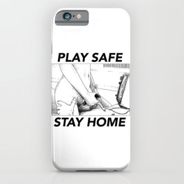 asc 443 - Le joystick (Toying with Pong) STAY HOME iPhone Case