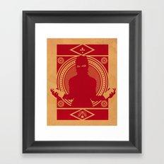 RED VANDALIZM Framed Art Print