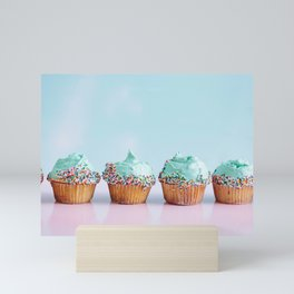 Blue Cupcakes Mini Art Print