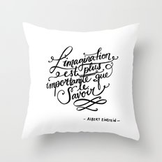 L'imagination Throw Pillow