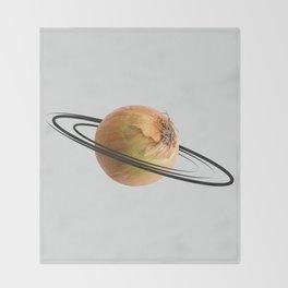 onion saturn Throw Blanket