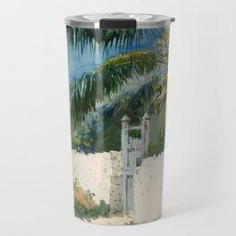 Winslow Homer - A Garden in Nassau,1885 Travel Mug