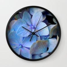 Hydrangea Happy Wall Clock