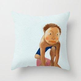 a surfer Throw Pillow