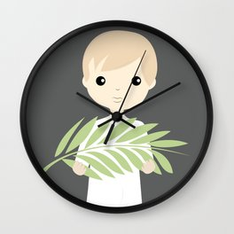 Palm Sunday Boy Angel Wall Clock