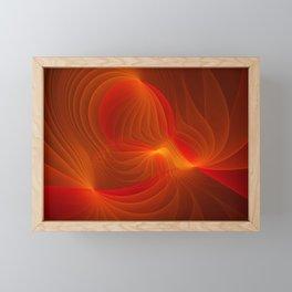 Much Warmth, Abstract Fractal Art Framed Mini Art Print